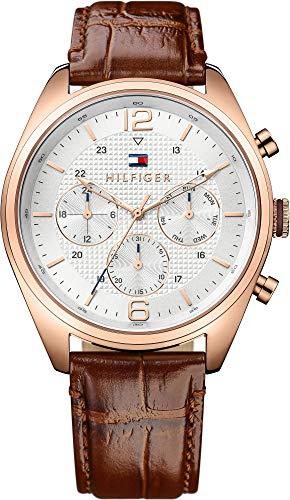 Tommy Hilfiger hombre-reloj analógico de cuarzo cuero 1791183