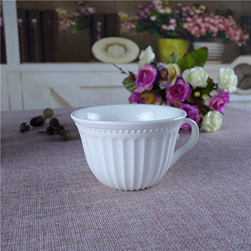 Obst Imperials (BOHNR-Continental Relief aus Keramik weiß Becher ein paar Tassen Kaffee Tasse Frühstück Obst Milch Glas, Imperial Glas)