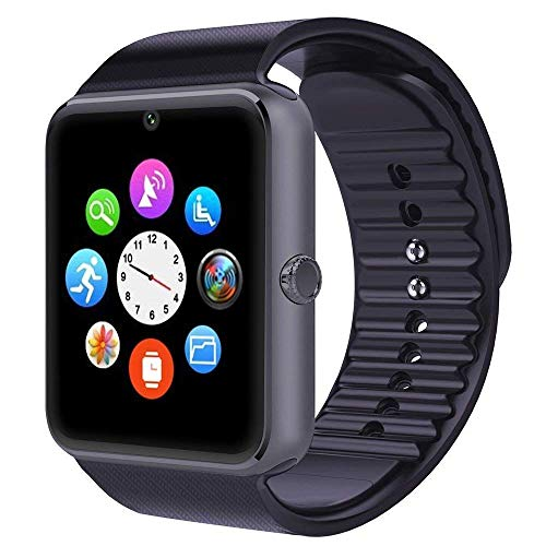 Smartwatch Android iOS Wear Smart Watch Phone Uomo Donna con SIM Card Slot Orologio Fitness Tracker Watch Braccialetto Sport Pedometro Fotocamera per iPhone Huawei Samsung Xiaomi Smartphone