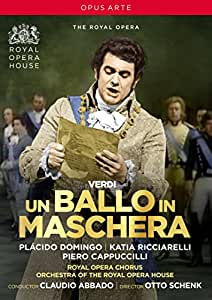 Verdi: Un Ballo in Maschera [Placido Domingo; Katia Ricciarelli; Piero Cappuccilli; Orchestra of the Royal Opera House; Claudio Abbado] [Opus Arte: OA1236D] [DVD] [Region 1] [NTSC]