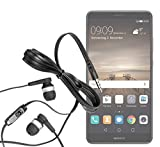 yayago InEar Stereo Headset schwarz für Huawei Mate 9 3,5 mm Klinkenanschluss Schwarz