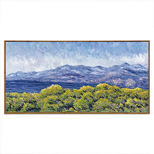 Gbwzz Landschaftsölgemälde handgemaltes Ölgemälde modernes impressionistisches Ölgemälde Landschaftsmalerei Wohnzimmeranstrich, 25 × 50cm