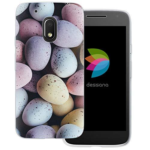 dessana Candy Süßigkeiten Transparente Schutzhülle Handy Case Cover Tasche für Motorola Moto G4 Play Oster Eier