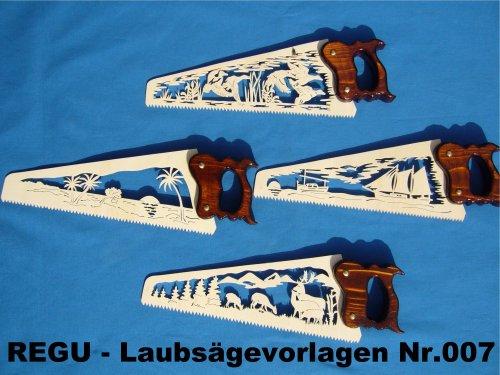 REGU Laubsäge-Vorlage - Fuchsschwänze Nr. 007