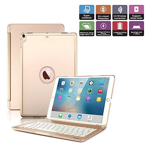 iPad Pro 10,5 Tastatur Fall becemuru 7-color Hintergrundbeleuchtung Drahtloser Bluetooth Tastatur muti-angle Ständer Schutzhülle für iPad Pro 10,5 (Fall Ipad-tastatur)