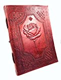 Chic & Zen–Notizbuch, Tagebuch, Buch, Echtleder, Vintage, 9°x°13°cm, Premium-Papier 18cm X 25cm