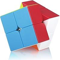 Speed Cube 2x2 2x2x2 Stickerless Magic Puzzle Cube de Vitesse Magique Cadeau de Vacances pour Enfants Adultes (sans…