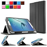 Infiland Samsung Galaxy Tab S2 8.0 Smart Book Case Cover- Folio PU Leather Slim Stand Case Cover for Samsung Galaxy Tab S2 8 inch Tablet(8IN Wi-Fi SM-T710 / LTE SM-T715) (with Auto Wak /Sleep Function)(Black)