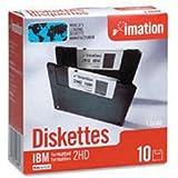 """IMATION Lot de 12 Boites de 10 Disquette DSHD 135 TPI 3,5"""" 1,44 Mo formatée DOS Noir"""