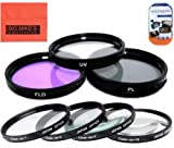#8: 77mm Multi-Coated 7 Piece Filter Set Includes 3 PC Filter Kit (UV-CPL-FLD-) And 4 PC Close Up Filter Set (+1+2+4+10) For Nikon DF D90 D3000 D3100 D3200 D3300 D5000 D5100 D5200 D5300 D5500 D7000 D7100 D300 D300s D600 D610 D700 D750 D800 D810 D810A Digital SLR Cameras Which Has Any Of These Nikon Lenses 20mm f/1.8G 24mm f/1.4G 24mm f/3.5D 45mm f/2.8D 85mm f/1.4 85mm f/2.8D