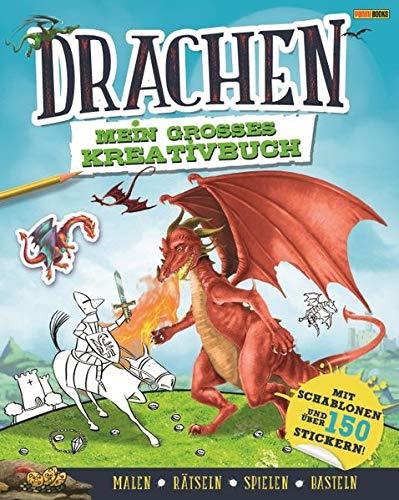 Drachen: Mein großes Kreativbuch: Mit Schablonen und über 150 Stickern (Malen, rätseln, spielen, basteln) (Ritter Des Drachen)
