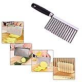 RUSTO Weihpe Kreatives Gemüsehobel Wellig Kartoffel Schneidenes Messer Schneiden und Dekorieren von Gemüse und Früchten in Wellenform