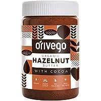Mantequilla de Avellana Orgánica Certificada Orivego con Cacao, 450 g