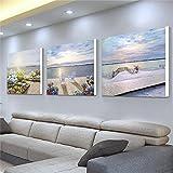60 * 60 * 2.5 cm Salon peinture PVC tissu film canapé fond Tenture murale triptyque restaurant