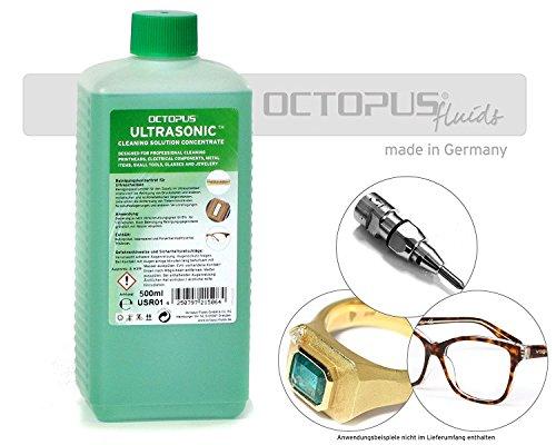 Detergente per pulizia ad ultrasuoni - concentrato per la pulizia di gioielli, occhiali, apparecchi dentali, metalli preziosi e testine di stampa in bagno ad ultrasuoni, 500millilitro