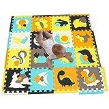 Alfombra de Juego Puzzle Piezas de Puzzle de Encaje que Promueven el Desarrollo Sensorial Visual...