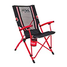 Coleman Unisex Camping Festival Bungee Chair, Black/Red, One Size