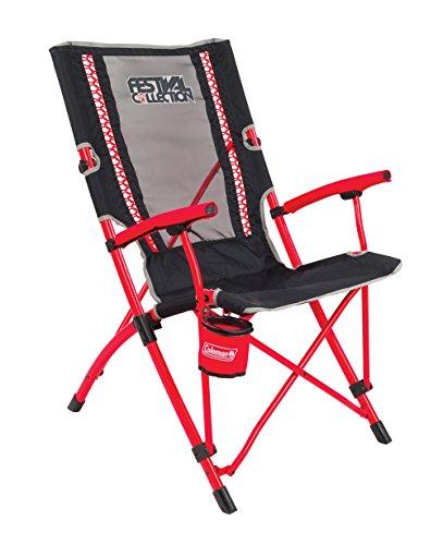 Coleman Chaise de Camping Bungee, chaise pliante légère, structure robuste en acier, chaise de camping avec porte-gobelet, utilisation pour les festivals, la pêche et le jardin
