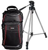 Foto Kamera Tasche Rucksack Sling mit Reise Stativ Friend für Canon EOS 1300D 1200D 760D 750D 700D 100D 80D