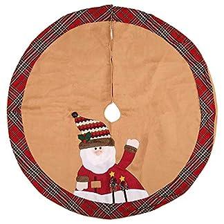 GZQ-Weihnachtsbaumschmuck-Baumschmuck-Baumschmuck-Dekoration-Baum-Rock-Bodenabdeckung-mit-Plaid-Trim-fr-Weihnachten-Neujahr-Party-105-cm
