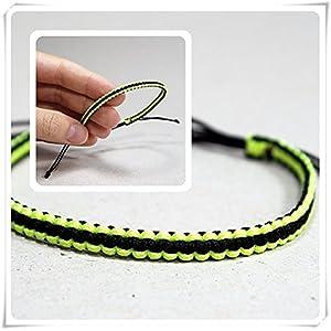 Schwarz Neon Gelb Makramee Armband, Tiny Armband Schwarz, modernes Schmuck, Neon Armband, Fresh Sumer Armband, Einfach Schmuck,