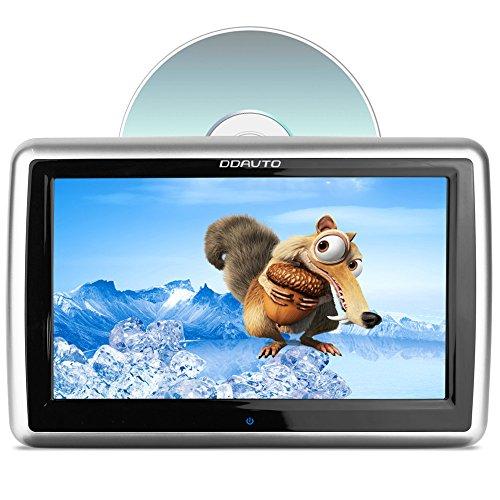 Appui-tête DVD, DDAUTO Écran Tactile Capacitif Amélioré Lecteur Multimédia Écran LCD avec Insertion Drive Supporte CPRM DVD SD USB 1080P Vidéo 10.1 Pouces Piano Noir (DD1019HT)