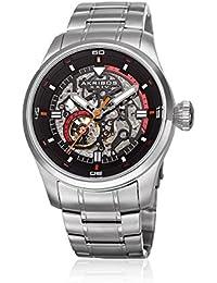 Akribos XXIV Men's Quartz Stainless Steel Casual Watch, Color Silver-Toned (Model: AK970SS)