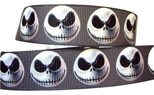 1Meter Halloween Jack Nightmare Before Christmas Skull Skelett schwarz Charakter Cartoon Band 2,5cm (Charakter Cartoon Halloween)