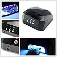 Gearmax® 36W LED CCFL Nail asciugatrice /Essiccatore chiodo a forma di diamante migliore macchina lampada di polimerizzazione per il gel UV Smalto