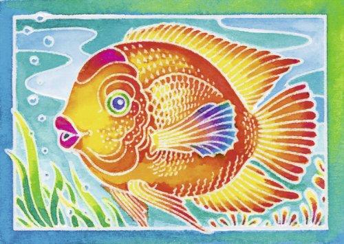 Ravensburger 29173 - Fisch - Aquarelle Mini, 8.5 x 12 cm
