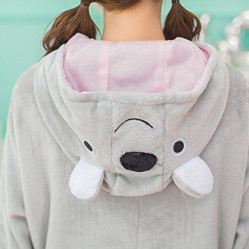 Unisex Einteiler-Pyjama, Erwachsene Flanell Schlafanzug, Tier-Schlafanzug Onesie Koala-Bär L - 6