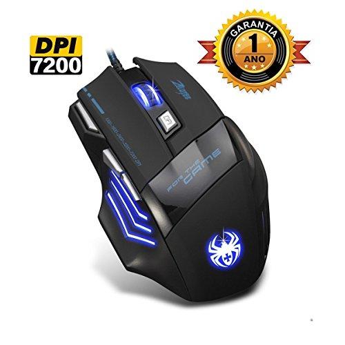 [Nueva versión 2017] Ratón Mouse para PC Gaming con 7200 DPI CorVik ZELOTES T80 INCLUYE Manual en Español Óptico también para oficina WINDOWS 7,8,10, MAC, VISTA, ME, (todos)