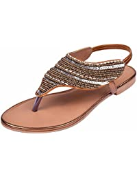 Jade Women's Casual Beaded Flat Fashion Sandals