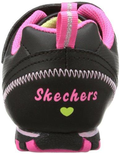 Skechers  Biker IISchool Star, basket fille Noir - Schwarz (BKMT)