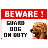 #5: SignageShop Beware Guard Dog on Duty Sign on ACP board