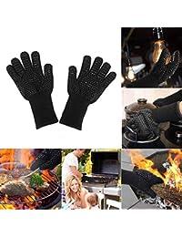TTAototech 2 Piezas de Barbacoa con Guante de Silicona de partículas Funcional y Confortable a Prueba de Calor para el mitón del Horno…