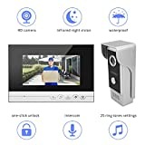 Visuelle Türklingel, BIGWINNER Video-Türsprechanlage mit 7-Zoll-TFT-LCD-Bildschirm und 700 CMOS HD Kamera IP6 wasserdicht/Zwei- Wege-Intercom