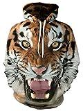 Bfustyle Unisex 3D Digital gedruckt Santa Xmas Tiger Pullover mit Kapuze Geschenk Geschenk Hässliches Winter-Sweatshirt mit großer Tasche