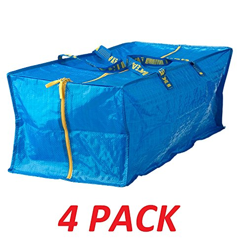 Ikea Frakta Storage Bag,Extra Large - Blue -- 4 PACK by IKEA