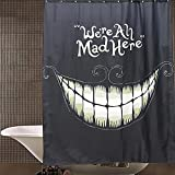 RISHIL WORLD Waterproof Smile Halloween Polyester Shower Curtain Bathroom Decor with 12 Hooks
