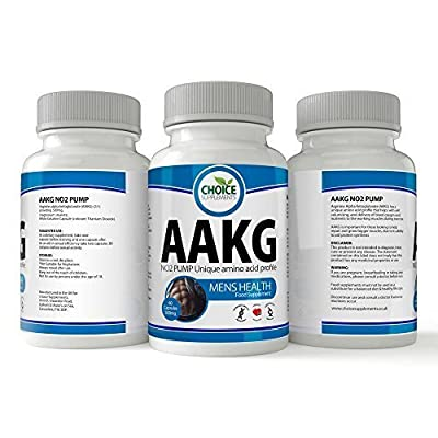 AAKG - 500mg Arginine Alpha Ketoglutarate L-Arginine Nitric Oxide Capsules Pre Workout Booster - Choice Sample Pack from Choice Supplements