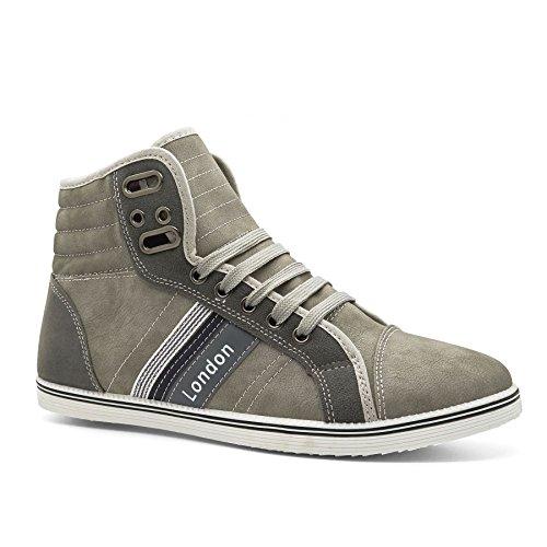 londres-calzado-tyson-high-top-de-los-hombres-trainers-color-gris-talla-41-eu