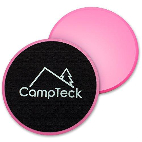 CampTeck 2x Gliding Discs Doppia Faccia Dischi Fitness Core Sliders in Casa per Allenamento Addominali, Casa, Yoga, Palestra, Pilates, CrossFit - Per moquette e Tutti Pavimenti Duri (Rosa) preisvergleich