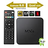 2017 Model GooBang Doo MXQ Android 6.0 TV Box 64 Bits Amlogic Marshmallow OS 4K Smart Set Top TV Box with Cleaning Cloth and Customer Support Card