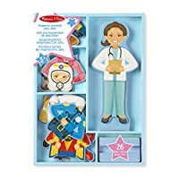 Melissa & Doug Julia Magnetic Dress-Up Set (Pretend Play, 8 Outfits, Encourages Creativity, 24 Magnetic Pieces)