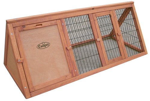 """Easipet Wooden triangle rabbit 46"""" Hutch 21385 2"""