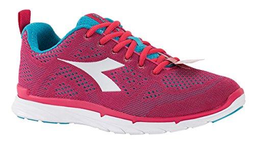 Diadora Schuhe Running Sneaker Jogging Frauen nj-303Trama Teaberry/Blue Atoll/weiß Größe, Damen, Fuchsia -