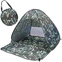 CoCo-Pop-Up portatile, Tenda da spiaggia con protezione raggi UV, 2-3 persone, per pesca, campeggio, Picnic da assemblare, impermeabile, leggero, compatto Cabana Pop-Up, tenda da spiaggia, Shelter-Tenda riparo da spiaggia, camouflage