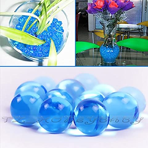 50G Water Aqua Crystal Soil Gel Ball Beads Vase Centerpiece Wedding New Absorbing Round Home