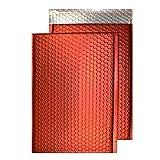 Purely Luftpolstertasche, haftklebend, C5, 250 x 180 mm, haftklebend, Metallic Matt, Gepolsterte Versandtasche, Chili Haze (100 Stück)